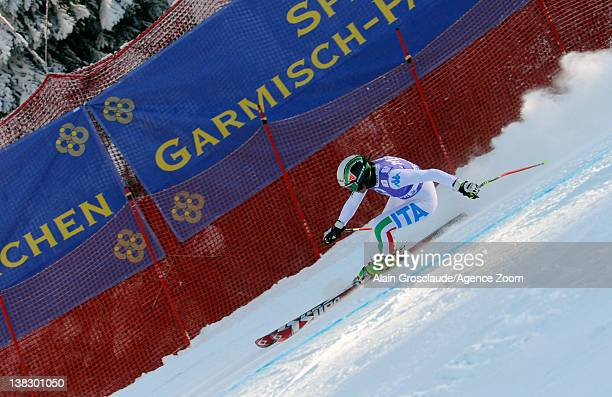 Johanna Schnarf of Italy during the Audi FIS Alpine Ski World Cup Women's SuperG on February 5 2012 in GarmischPartenkirchen Germany