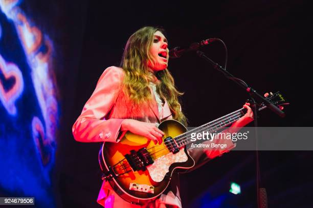 Johanna Soederberg of First Aid Kit performs at Albert Hall on February 26 2018 in Manchester England