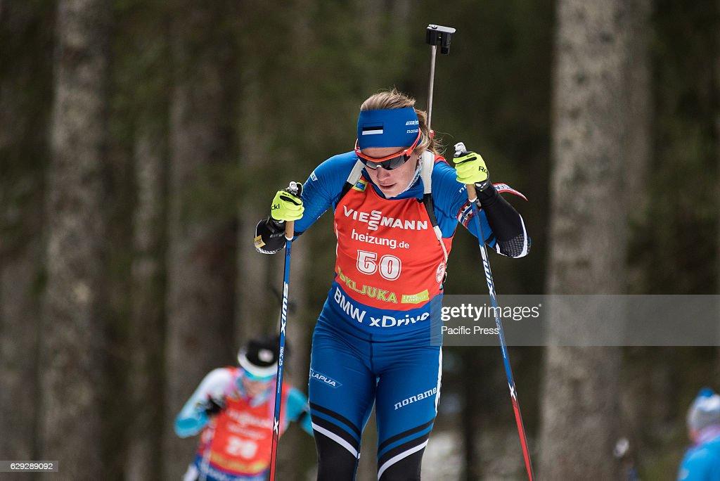 Johanna Talihaerm of Estonia on the course during women 7,5... : Nachrichtenfoto