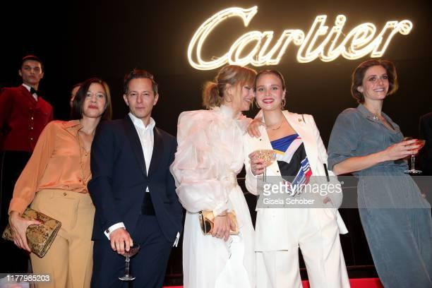 """Johanna Wokalek, Trystan Puetter, Heike Makatsch, Sonja Gerhardt, Miriam Stein, during the """"Clash de Cartier - The Opera"""" event at Eisbachstudios on..."""