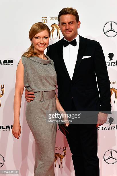 JohannaChristine Gehlen and Sebastian Bezzel arrive at the Bambi Awards 2016 at Stage Theater on November 17 2016 in Berlin Germany