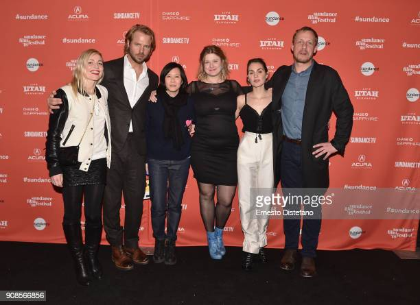 Johanne Algren Thijs Romer Kim Yutani Isabella Eklof Victoria Carmen Sonne David Sorensen attend the Holiday Premiere during the 2018 Sundance Film...