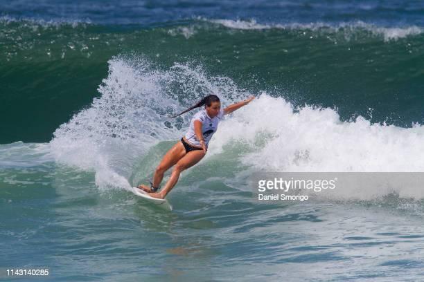 Johanne Defay of France competing in the 2015 Oi Rio Women's Pro in Rio de Janeiro, Brazil.