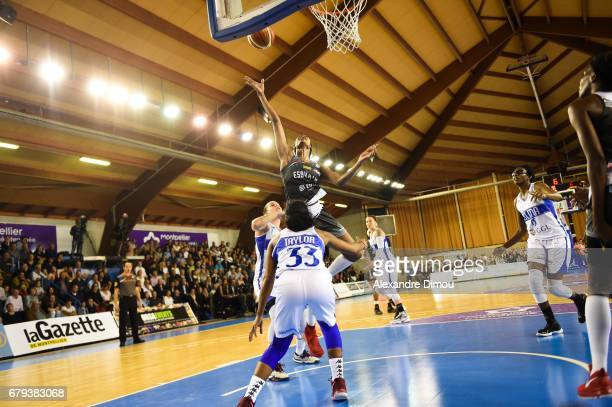 Johanne Gomis of Villeneuve d Asq during the women's french League final match between Montpellier Lattes and Villeneuve d'Ascq on May 5 2017 in...