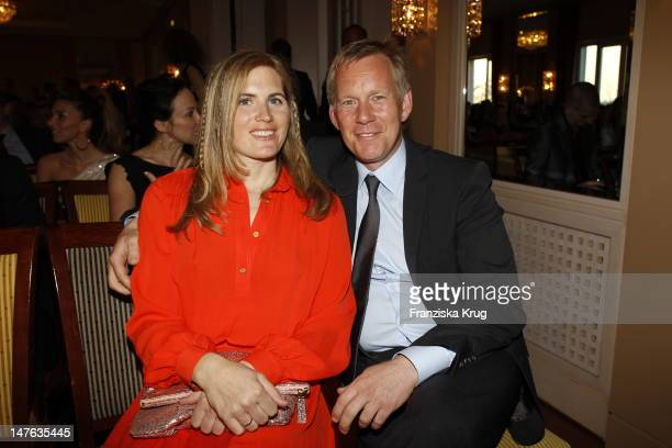 Johannes B Kerner and Britta BeckerKerner attend honouring ceremony of 'Couple of the year' at Hotel Louis C Jacob on April 11 2011 in Hamburg Germany