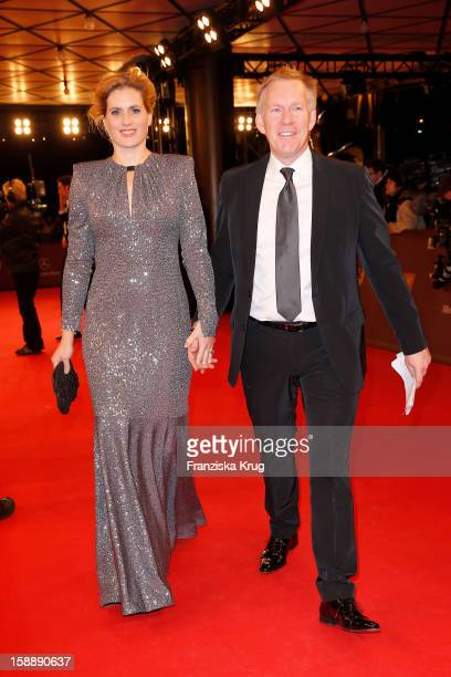 Johannes B Kerner and Britta BeckerKerner attend the 'BAMBI Awards 2012' at the Stadthalle Duesseldorf on November 22 2012 in Duesseldorf Germany