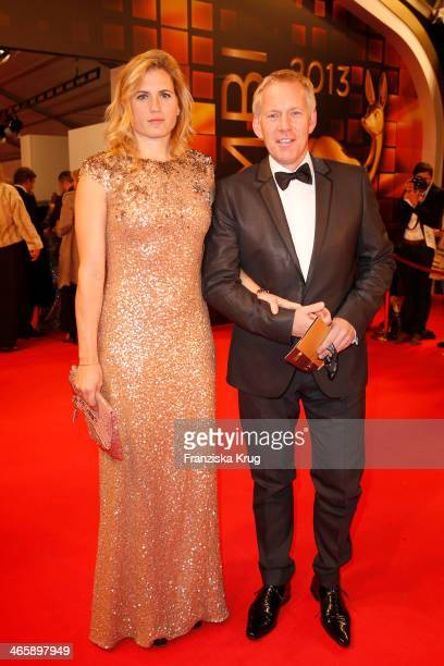 Johannes B Kerner and Britta BeckerKerner attend the Bambi Awards 2013 at Stage Theater on November 14 2013 in Berlin Germany