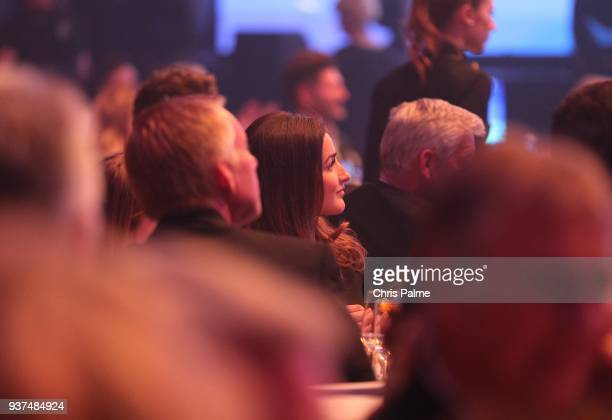 Johannes B. Kerner and his girlfriend Laura Schilling during the Radio Regenbogen Award 2018 at Europapark Rust on March 23, 2018 in Rust, Germany.