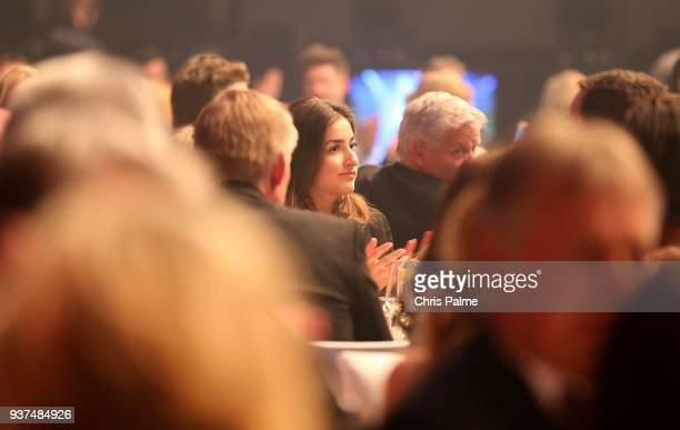Johannes B Kerner and his girlfriend Laura Schilling during the Radio Regenbogen Award 2018 at Europapark Rust on March 23 2018 in Rust Germany