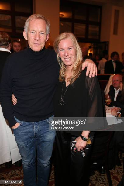 Johannes B Kerner and his sister Julia during the after show party for the Ein Herz Fuer Kinder Gala at Borchardt Restaurant on December 7 2019 in...