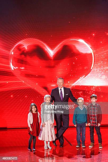 Johannes B Kerner and kids attend the Ein Herz Fuer Kinder Gala 2014 Show on December 6 2014 in Berlin Germany
