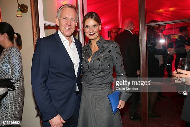 Johannes B Kerner and Kim Fisher during the Ein Herz Fuer Kinder after show party at Borchardt Restaurant on December 3 2016 in Berlin Germany