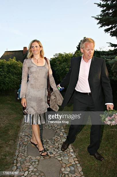 Johannes B Kerner and wife Britta Becker Kerner Kbei On The Traditional Food From Cancer Economia Manfred_Baumann boss in the house Catherine on the...
