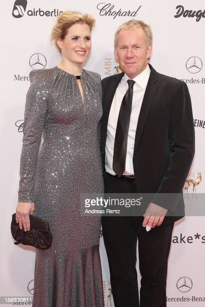 Johannes B Kerner and wife Britta Kerner attend 'BAMBI Awards 2012' at the Stadthalle Duesseldorf on November 22 2012 in Duesseldorf Germany