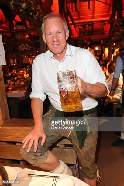Johannes B. Kerner during the Oktoberfest at Kaeferzelt at Theresienwiese on September 25, 2017 in Munich, Germany.
