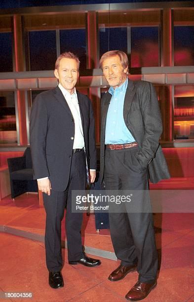 "Johannes B. Kerner, Horst Janson , ZDF-Show ""J o h a n n e s B . K e r n e r - S h o w"", Hamburg, in den Kulissen,"