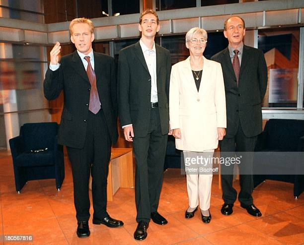 "Johannes B. Kerner, Marc Wallert, Renate;Wallert, Werner Wallert,;ZDF-Spezialausgabe Johannes B. Kerner Show;""Familie Wallert-Ende eines..."