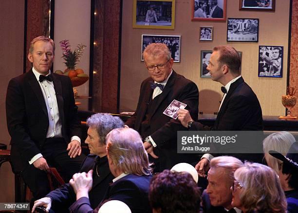 Johannes B Kerner Nils Heckscher and Kim Heckscher attend the birthday gala to celebrate Dieter Thomas Heck's 70th birthday on December 29 2007 in...