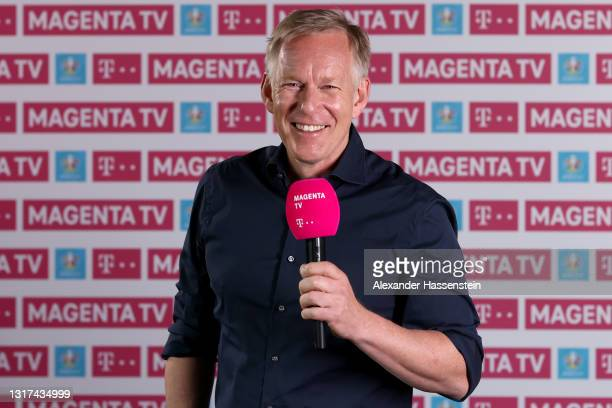 Johannes B. Kerner poses during the the Magenta TV EURO 2020 Media Day at Allianz Arena on May 11, 2021 in Munich, Germany.