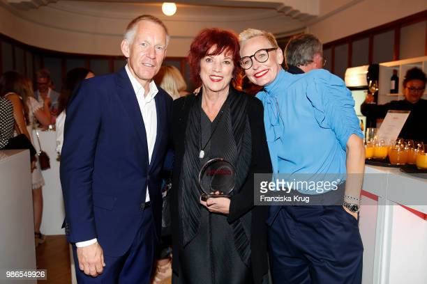 Johannes B Kerner Regina Ziegler and Baerbel Schaefer attend the Emotion Award at Curiohaus on June 28 2018 in Hamburg Germany