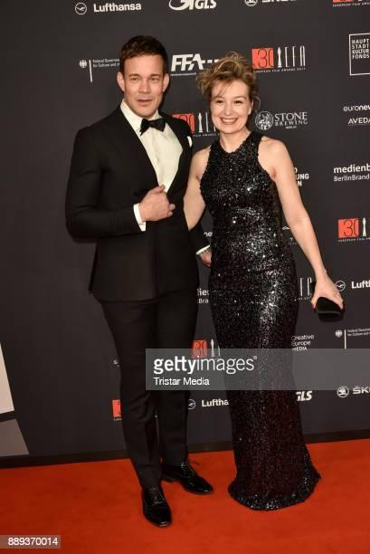 Johannes Bah Kuhnke and Anamaria Marinca attend the European Film Awards 2017 on December 9 2017 in Berlin Germany