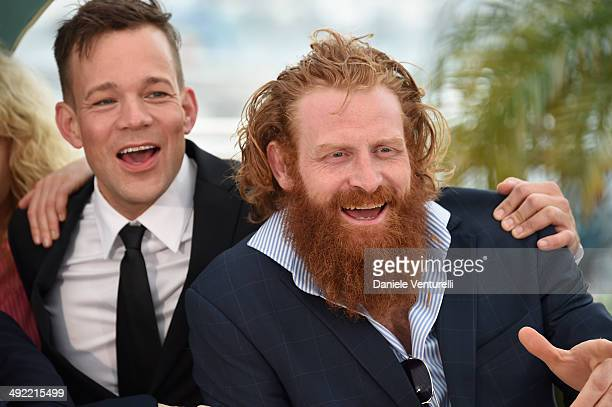 Johannes Bah Kuhnke and Kristofer Hivju attends the 'Turist' photocall at the 67th Annual Cannes Film Festival on May 19 2014 in Cannes France