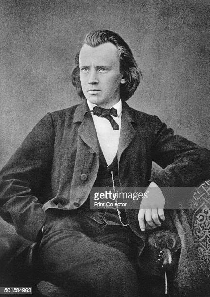 Johannes Brahms German composer and pianist c1866 A print from Les Musiciens Celebres Lucien Mazenod Paris 1948