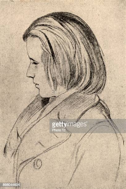 Johannes Brahms German composer at the age of 20 After silverpoint by JJB Laurens executed at the request of Robert Schumann