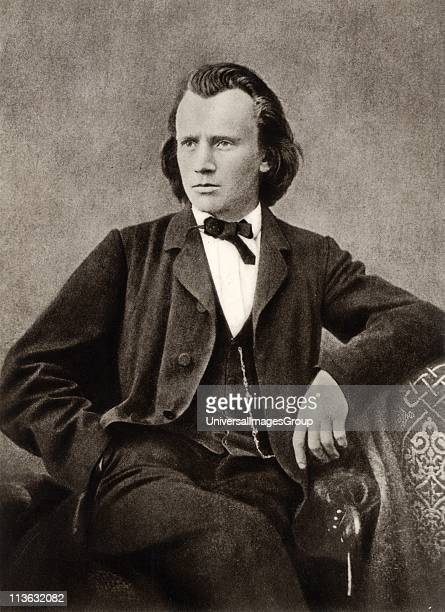 Johannes Brahms German composer c1866 Halftone from a photograph