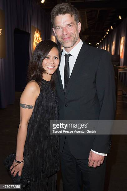 Johannes Brandrup and Mary Ann Zarate attend the pre opening party of the exhibition 'Game of Thrones Die Ausstellung' on May 12 2015 in Berlin...