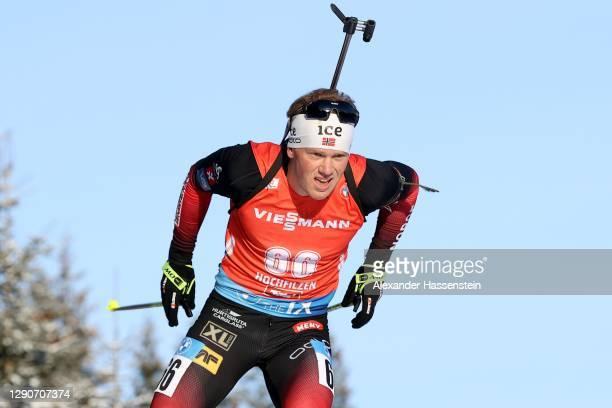 Johannes Dale of Norway competes during the Men 10 km Sprint Competition at the BMW IBU World Cup Biathlon Hochfilzen at Biathlon Stadium Hochfilzen...