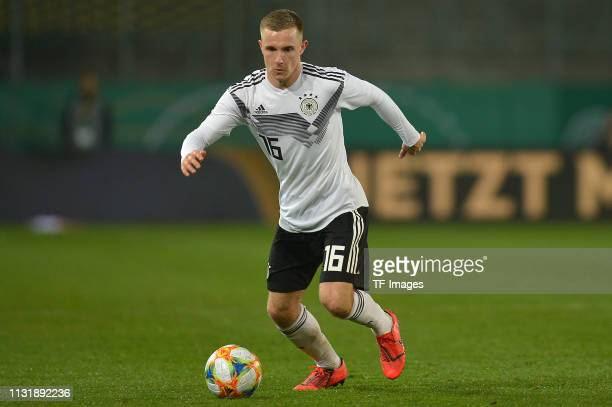 Johannes Eggestein of Germany controls the ball during the International Friendly match between Germany and France at Stadion Essen on March 21 2019...