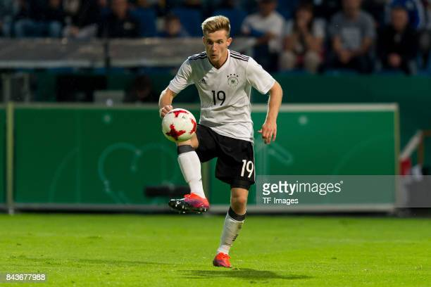 Johannes Eggestein of Germany controls the ball during the U21 UEFA 2018 EM Qualifying match between Germany and Kosovo at the Stadion Bremer...