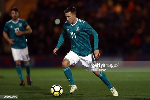 Johannes Eggestein of Germany in action at Colchester Community Stadium on November 19, 2018 in Colchester, England.
