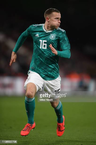 Johannes Eggestein of Germany in action during an England U21 v Germany U21 International Friendly at Vitality Stadium on March 26 2019 in...