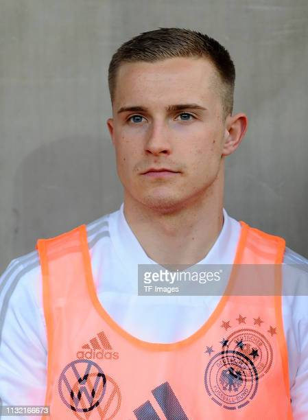 Johannes Eggestein of Germany looks on prior to the International Friendly match between Germany and France at Stadion Essen on March 21 2019 in...