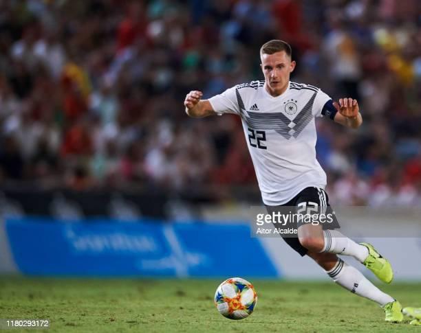 Johannes Eggestein of Germany U21 in action during the international friendly between Spain U21 and Germany U21 at Nuevo Arcangel on October 10, 2019...