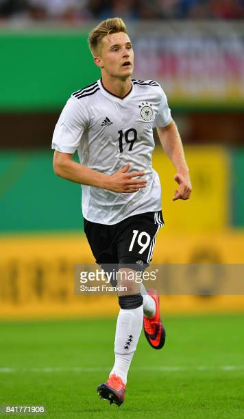 Johannes Eggestein of Germany U21 in action during the International friendly match between Germany U21 and Hungary U21 at the Benteler Arena on...
