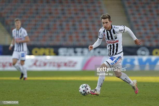 Johannes Eggestein of LASK during the tipico Bundesliga match between LASK and Cashpoint SCR Altach at Raiffeisen Arena on November 29, 2020 in Linz,...