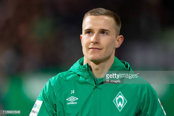 Johannes Eggestein of SV Werder Bremen looks on during the Bundesliga match between SV Werder Bremen and VfB Stuttgart at Weserstadion on February 22...