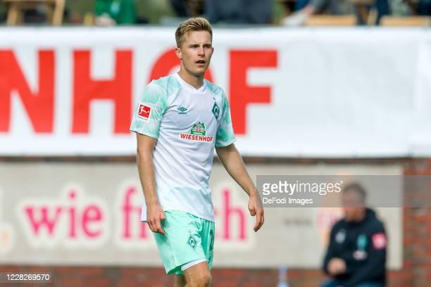 Johannes Eggestein of SV Werder Bremen looks on during the pre-season friendly match between Werder Bremen and FC Groningen on August 29, 2020 in...