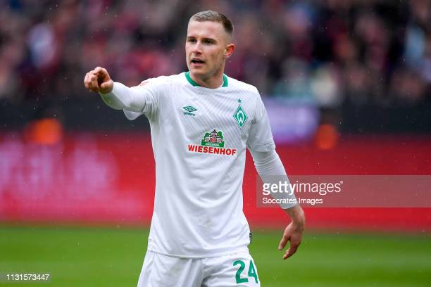 Johannes Eggestein of Werder Bremen during the German Bundesliga match between Bayer Leverkusen v Werder Bremen at the BayArena on March 17 2019 in...