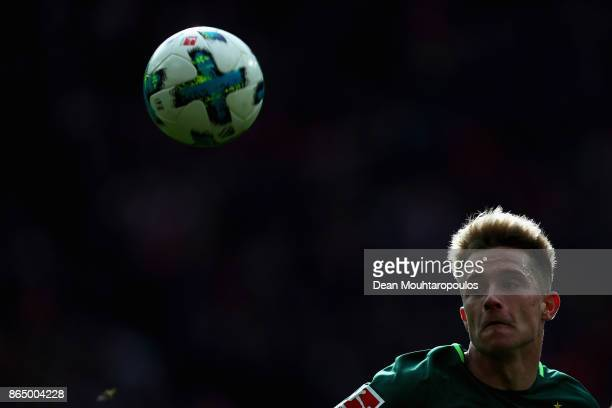 Johannes Eggestein of Werder Bremen in action during the Bundesliga match between 1 FC Koeln and SV Werder Bremen held at RheinEnergieStadion on...