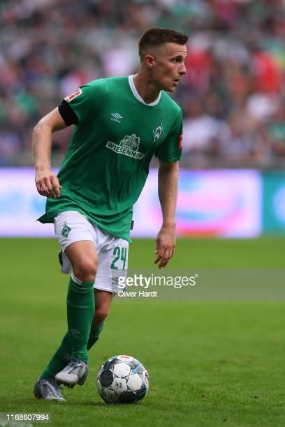 Johannes Eggestein of Werder Bremen runs with the ball during the Bundesliga match between SV Werder Bremen and Fortuna Duesseldorf at Wohninvest...