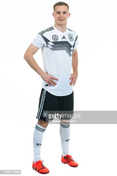 Johannes Eggestein poses during the Germany U21 Team Presentation on March 23, 2019 in Dusseldorf, Germany.