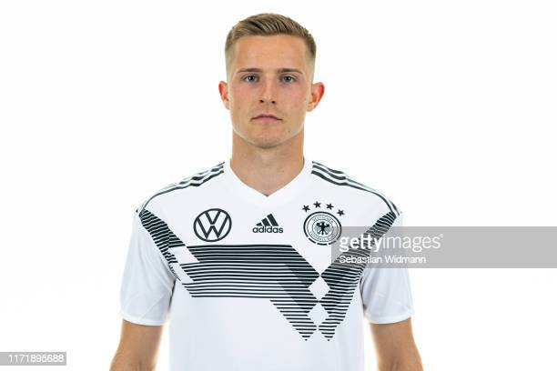Johannes Eggestein poses during the Germany U21 Team Presentation on September 02, 2019 in Zwickau, Germany.
