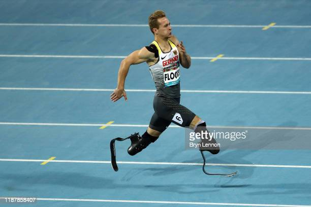 Johannes Floors of Germany in action in the Men's 400m T62 during Day Nine of the IPC World Para Athletics Championships 2019 Dubai on November 15,...