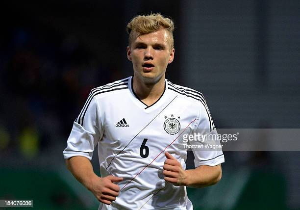 Johannes Geis of Germany looks on during the U21 Euro qualifier group 6 match between Germany and Republic of Montenegro at Brita Arena on October 11...