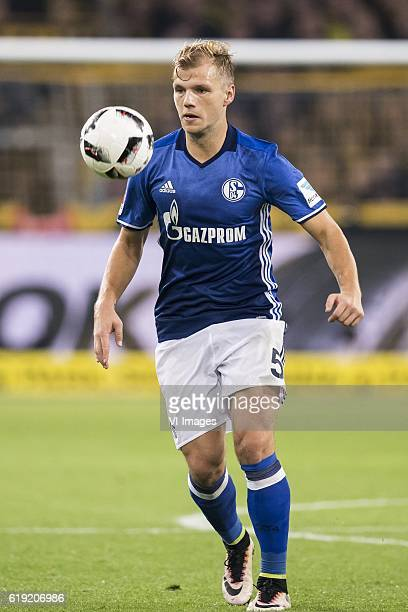 Johannes Geis of Schalke 04during the Bundesliga match between Borussia Dortmund and Schalke 04 on October 29 2016 at the Signal Iduna Park stadium...