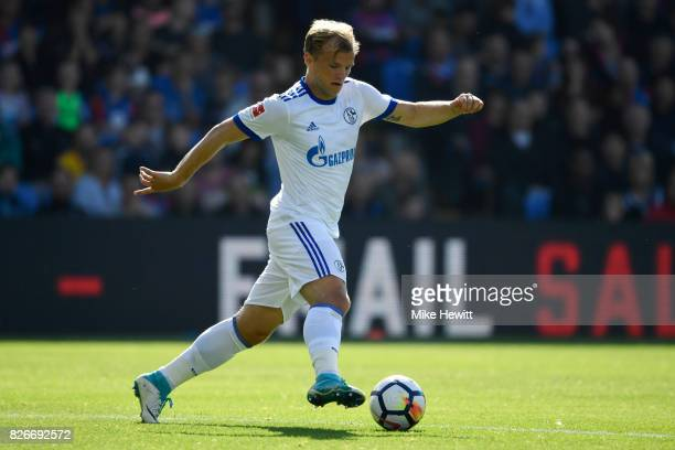 Johannes Geis of Schalke in action during a Pre Season Friendly between Crystal Palace and FC Schalke 04 at Selhurst Park on August 5 2017 in London...
